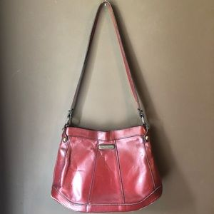 Vintage • Etienne Aiegner Red Leather Shoulder Bag